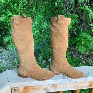 Michael Kors safari brown 8M calf hi riding boots